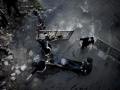 Caught in war: Bodies float down a stream in Aleppo, Syria, more than 24 hours after a massacre on January 30.