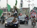 Voters flock to booths to participate in Pakistan's democratic process.