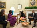 Malala Yousafzai meets President Barack Obama in the White House, and asks his to end drone strikes which are fueling terrorism in Pakistan.