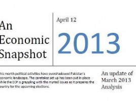 Pakistan Economic Snapshot April 2013