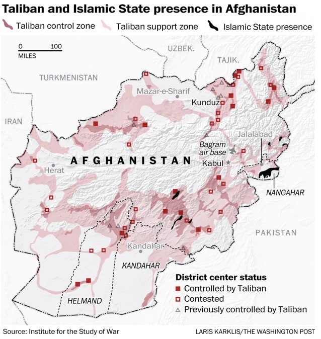 Taliban and Islamic State Presence in Afghanistan