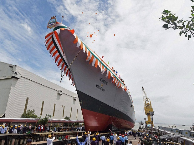 New stealth destroyer launched, yet navy faces major fleet shortfalls