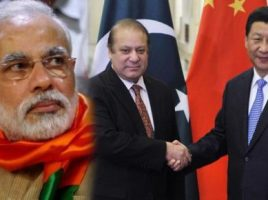 China, Pakistan and India