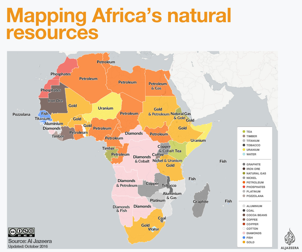 Mapping Africa's natural resources | Spearhead Research   Pakistan