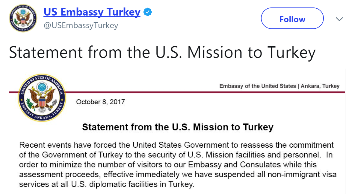 US-Turkish visa spat: A fight for basic freedoms