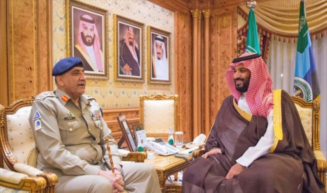 Pakistan Army Chief General Bajwa and Muhammad bin Salman
